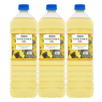 Tesco Pure Vegetable Oil 1L Pack of 3