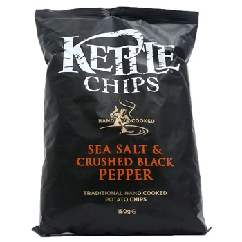 Kettle Chips Sea Salt & Crushed Black Pepper 150g