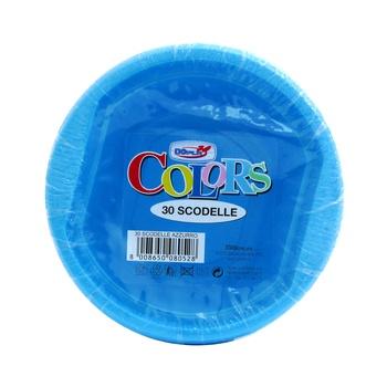 Dopla Disposables Color Line Coloured Bowls 30 pcs x 250 cc Blue (08063)