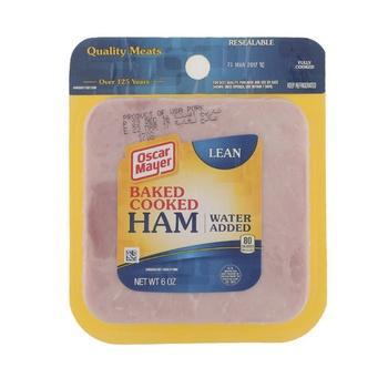 Oscar Mayer Ham - Baked Cooked 6 oz - (Pork Contains)