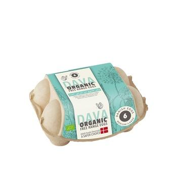 Dava Organic Free Range Eggs 6's