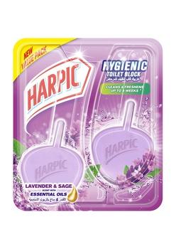Harpic Twin Block Lavender 2X40g