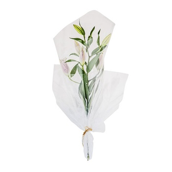 Wrapped Lilies White/ Pink