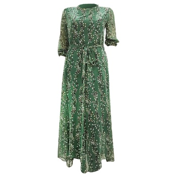 Ladies Chiffon Printed Long Dress