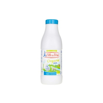 Elle & Vire Organic Semi Skimmed Milk 1ltr