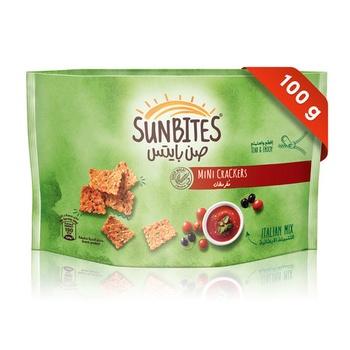 Sunbites Italian Mix Mini Crackers 100g