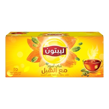 Lipton Yellow Label Black Tea with Cardamom 25's