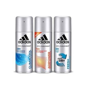 Adidas climacool + adipower + fresh deodorant body spray for men 3 x 150 ml