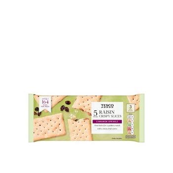 Tesco Standard Raisin Crispy slice 218g