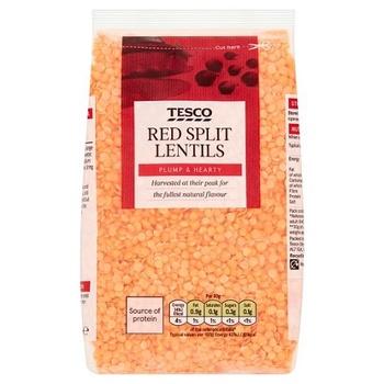 Tesco Red Split Lentils 500g