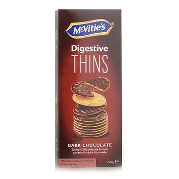 Mcvities Digestive Thins Dark Chocolate 150g