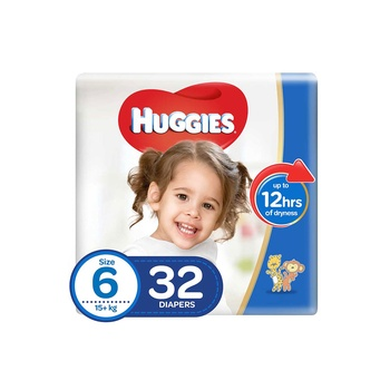 Huggies Ultra Comfort Diapers Size 6 Value Pack 15+ Kg Value Pack 32 Diapers Pack Of 2