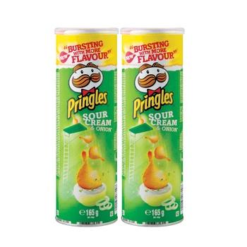 Pringles Sour Cream And Onion 2 x 165g