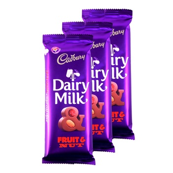 Cadbury Dairy Chocolat Fruit and Nut 90g Pack of 3