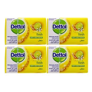 Dettol fresh anti-bacterial bar soap 4x120g