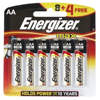 Energizer Alkaline Battery (Pack 8 + 4)