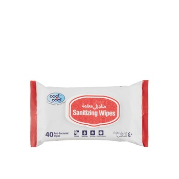 Cool&Cool Sanitizing Wipes 40s
