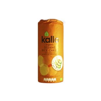 Kallo Organic Rice Cake Salted Sesame 130g