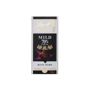 Lindt Excellence Mild Dark Chocolate 70% 100g