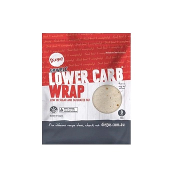 Gowell Diegos Lower Carb Wraps 8pk 400g