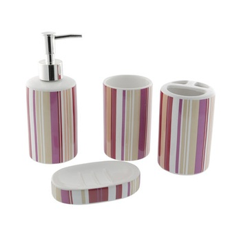 Ceramic Bathroom Set - 4 Pcs