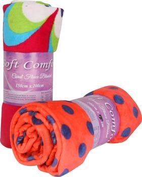 Soft Comfort Coral Blanket 150cm X 200cm