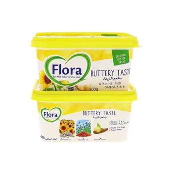 Flora Buttery 500g 2Pk