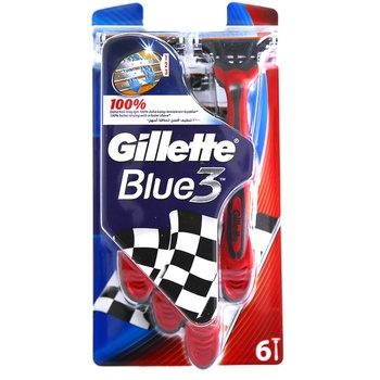 Gillette Blue 3 Disposable Razor 1 X 6