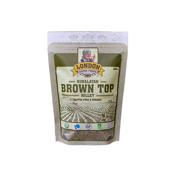 London Super Foods Organic Gluten Free Brown Top Millet 500g
