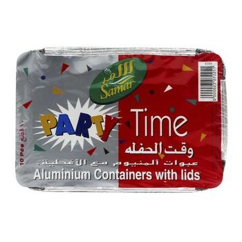 Samar Aluminium Containers With Lids Large 10pcs