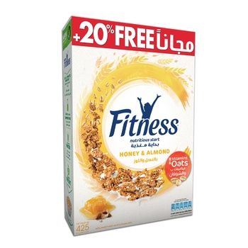 Nestle Fitness Honey & Almond Cereal 20% Extra Free