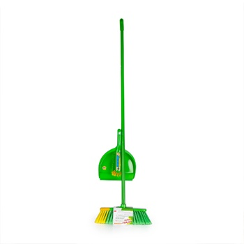 Scotch Brite Indoor Broom + Dust Pan Free