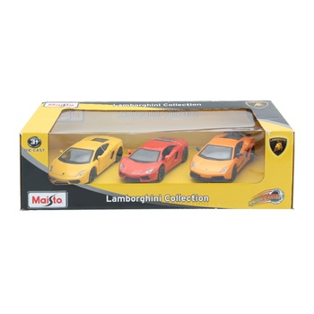 Maisto Die cast Power Racer Pullback Lamborghini - 3pcs Pack