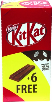 Nestlé Kitkat 2 Finger Milk Chocolate Wafer Bar 48X20.5g
