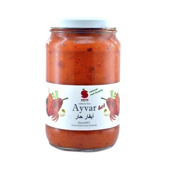 Sava Ayvar Chutney Relish Hot 370 ml