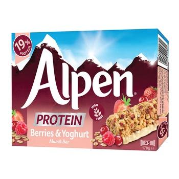 Alpen Protein Bar Berries 5X34g