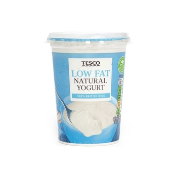 Tesco Low Fat Natural Yoghurt 500G