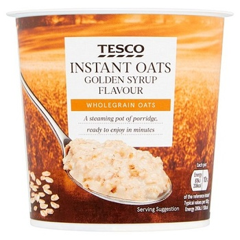 Tesco Instant Oats Gold Syrup Porridge 55g