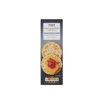 Tesco Salt & Pepper Cracker 185g