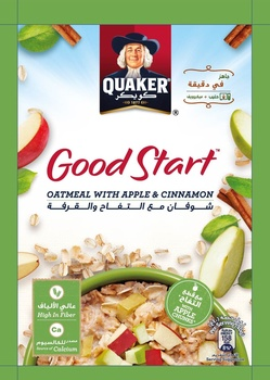 Quaker Good Start Oatmeal Apple & Cinnamon 40g
