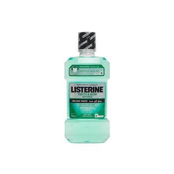 Listerine Mouthwash Teeth & Gum Defence Milder Taste Soft Mint 500ml