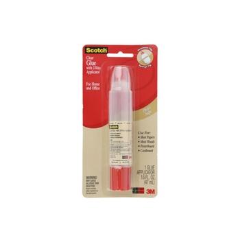 3M Scotch Clear Glue with 2 Way Applicator