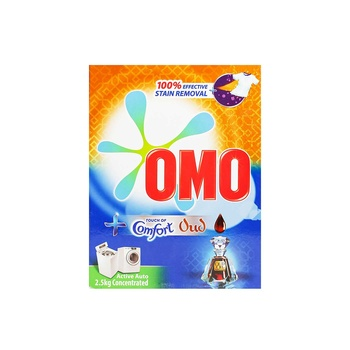 Omo Active Auto Laundry Detergent Powder With Comfort Oud 2.5kg
