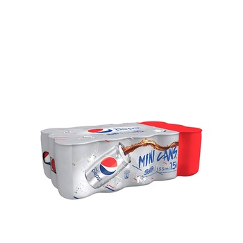 Diet Pepsi, Carbonated Soft Drink, Cans, 155ml x 15