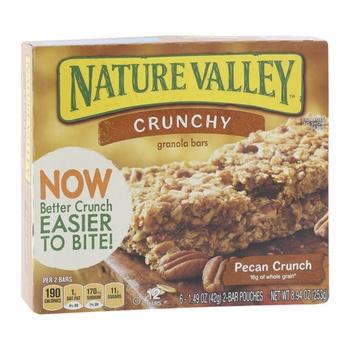 Betty Crocker Natural Valley Gran Bar Pecan Crunch 252g