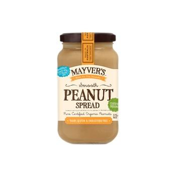 Mayvers Organic Peanut Spread - Smooth 375g