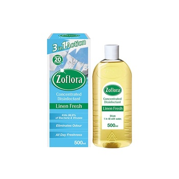 Zoflora Multipurpose Concentrated Disinfectant Linen Fresh 500ml