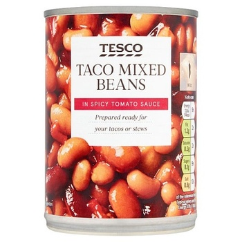 Tesco Taco Mix Beans & Mexican Sauce 395g