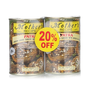 Mothers Recipe Patra Curried 2 x 350gm @ 20% Off