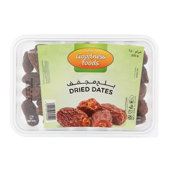 Goodness Foods Dried Dates (B) 250 g